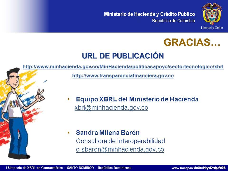 GRACIAS… URL DE PUBLICACIÓN Equipo XBRL del Ministerio de Hacienda