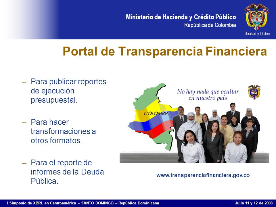 Portal de Transparencia Financiera