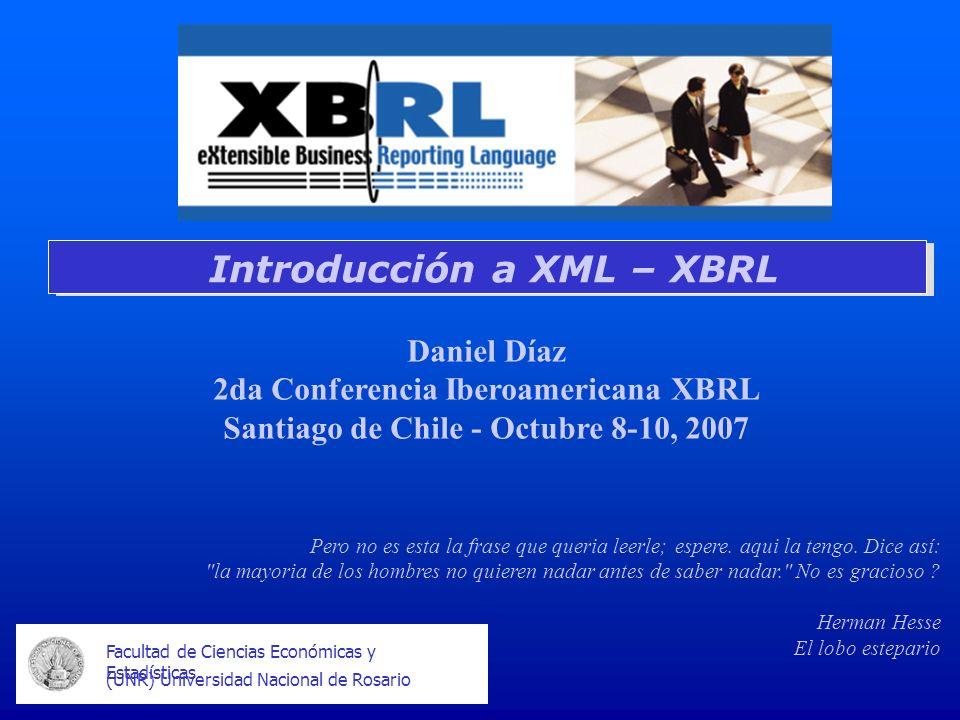 Introducción a XML – XBRL