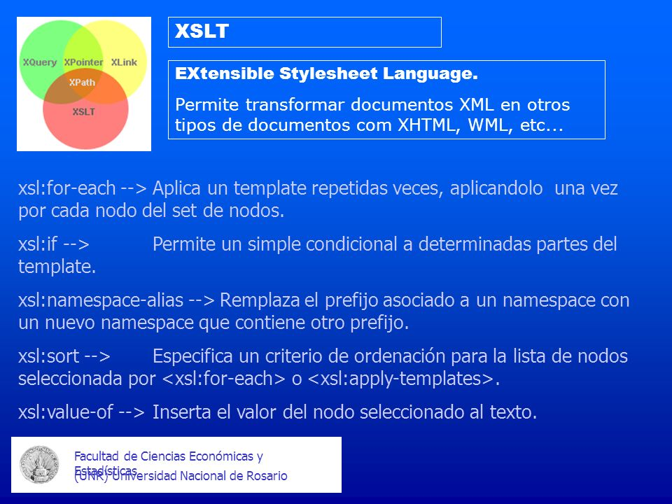 xsl:value-of --> Inserta el valor del nodo seleccionado al texto.