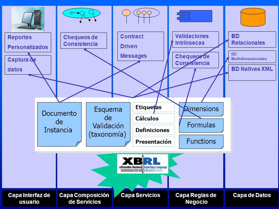 Esquema Dimensions Documento de Validación Instancia (taxonomía)