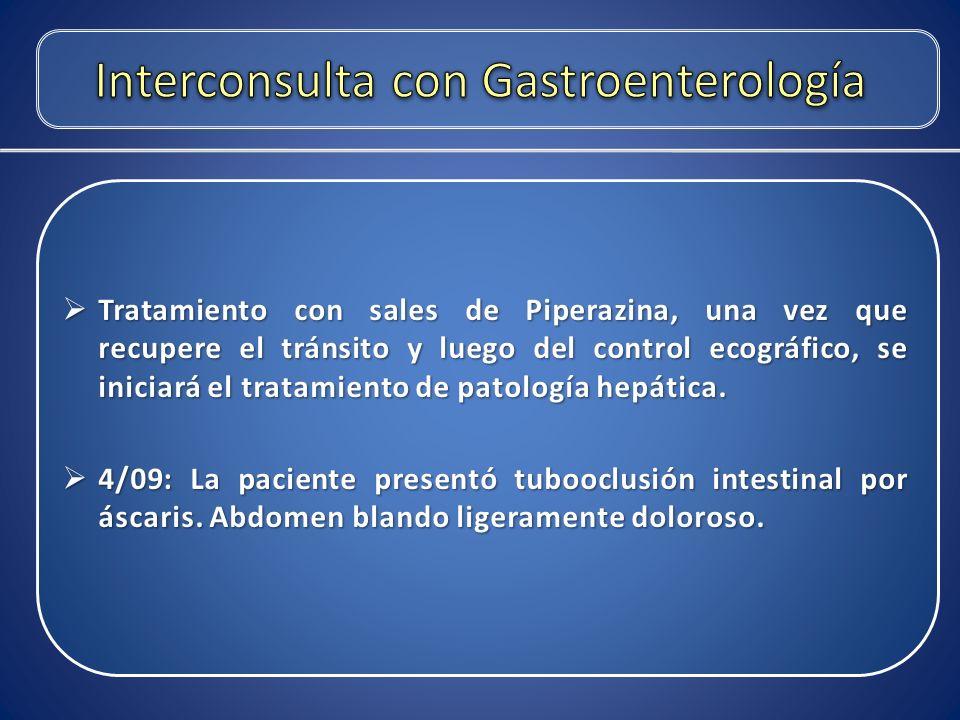 Interconsulta con Gastroenterología