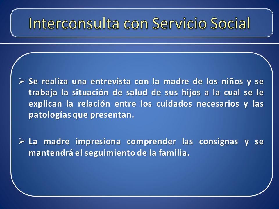 Interconsulta con Servicio Social