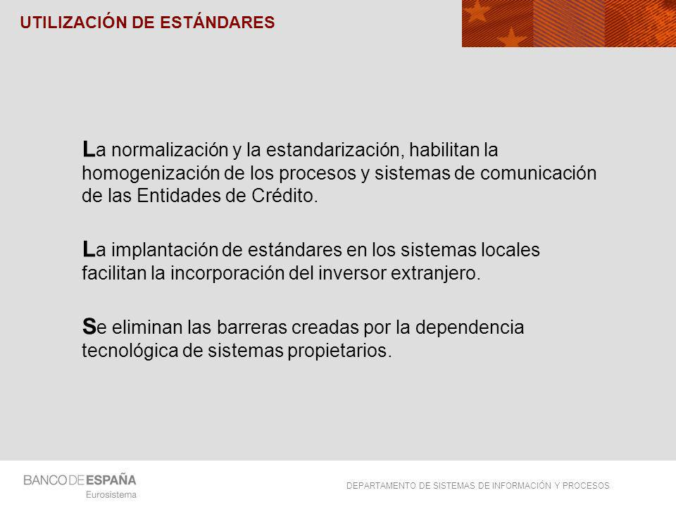 UTILIZACIÓN DE ESTÁNDARES