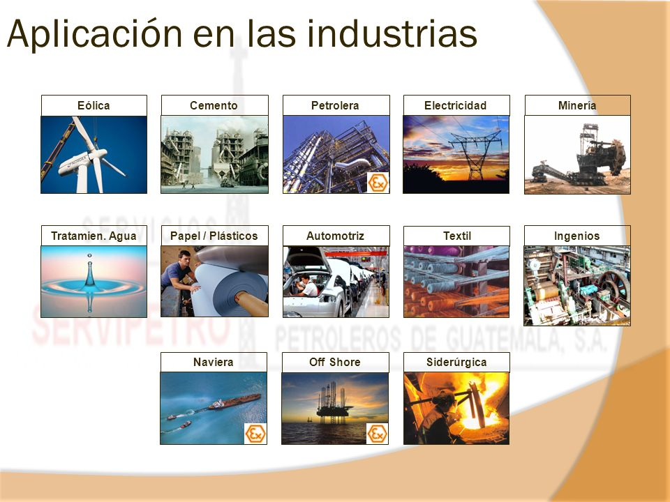 Aplicación en las industrias