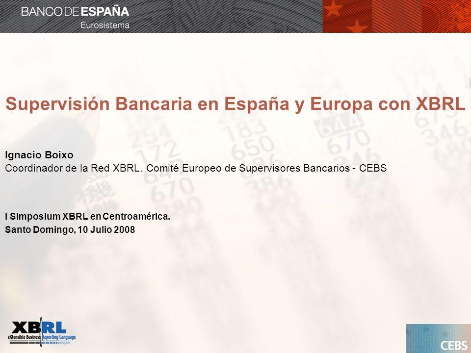 Supervisión Bancaria en España y Europa con XBRL