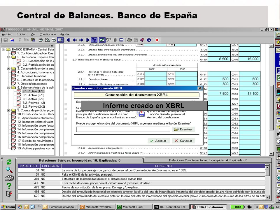 Central de Balances. Banco de España