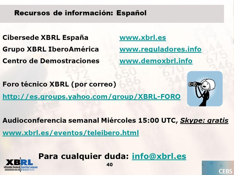 Para cualquier duda: info@xbrl.es