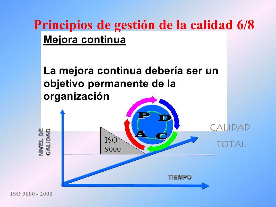 Principios de gestión de la calidad 6/8