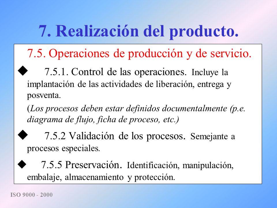 7. Realización del producto.