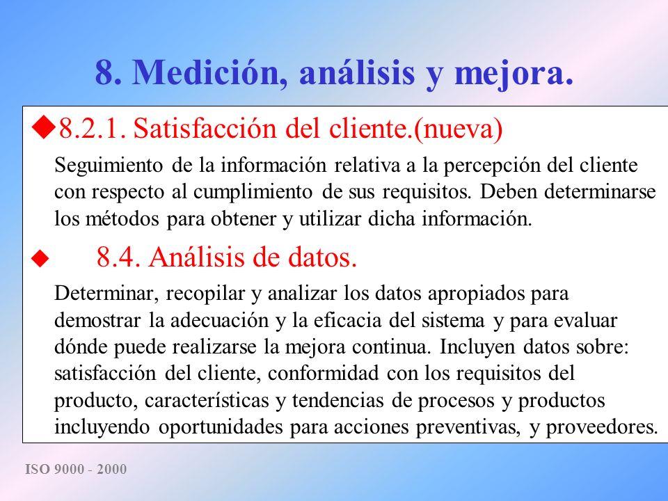 8. Medición, análisis y mejora.