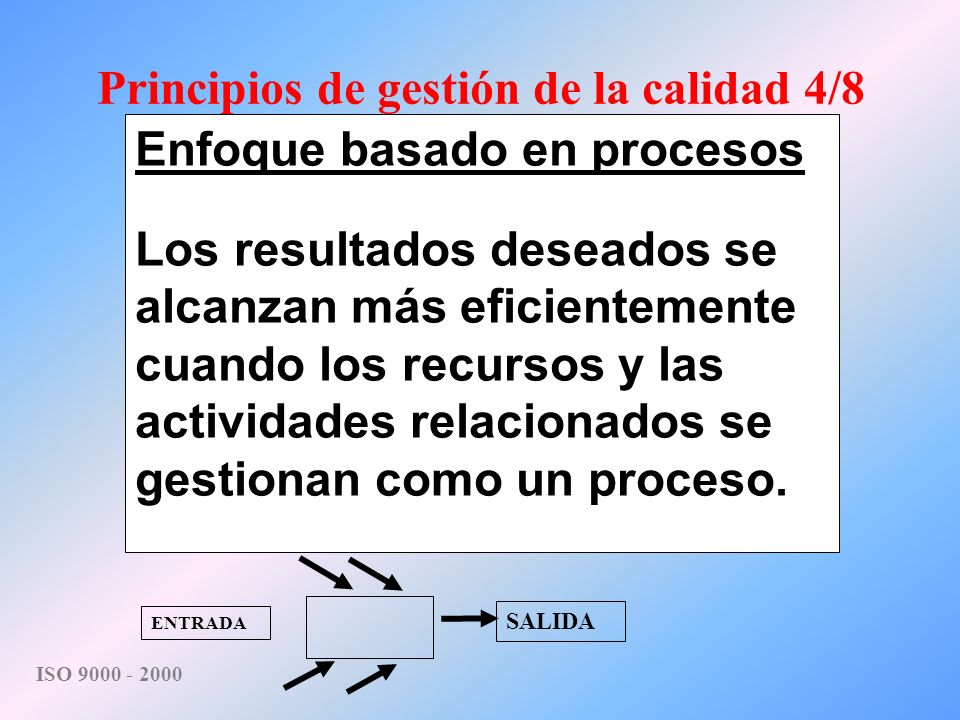 Principios de gestión de la calidad 4/8