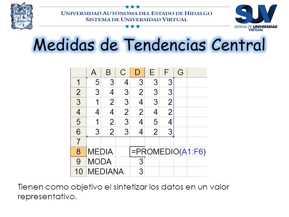 Medidas de Tendencias Central