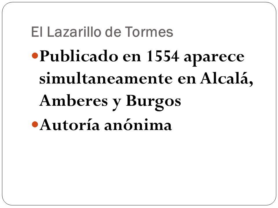 Publicado en 1554 aparece simultaneamente en Alcalá, Amberes y Burgos