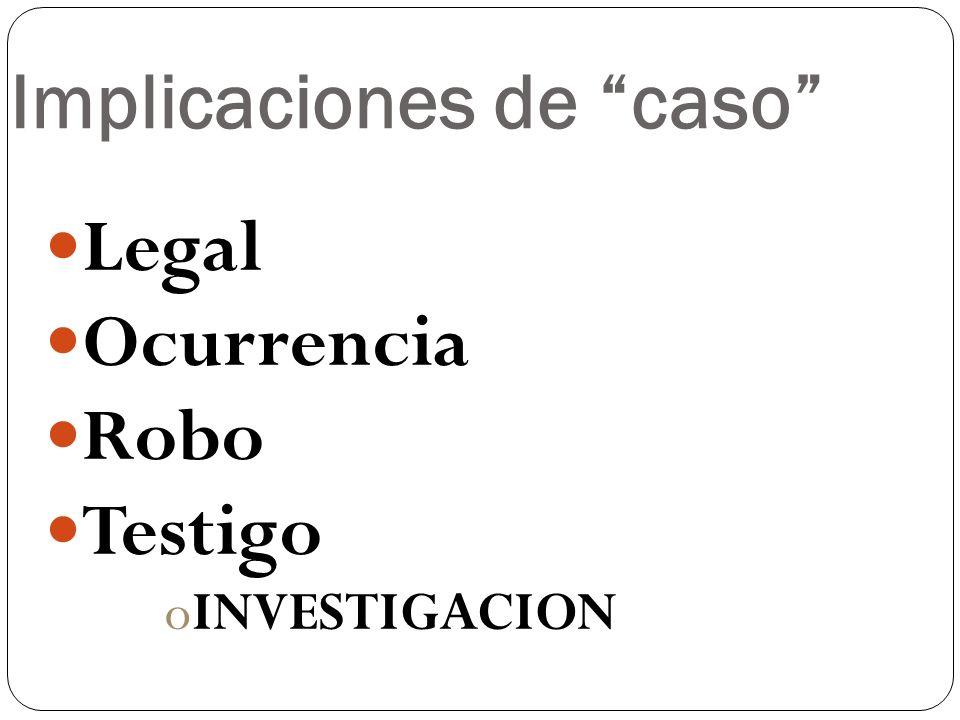 Implicaciones de caso