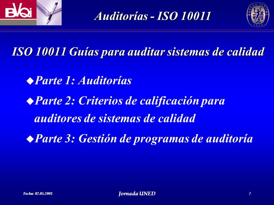 ISO 10011 Guías para auditar sistemas de calidad