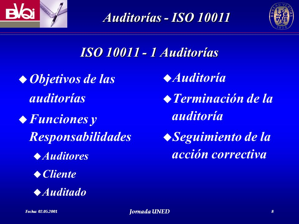 Objetivos de las auditorías Funciones y Responsabilidades Auditoría