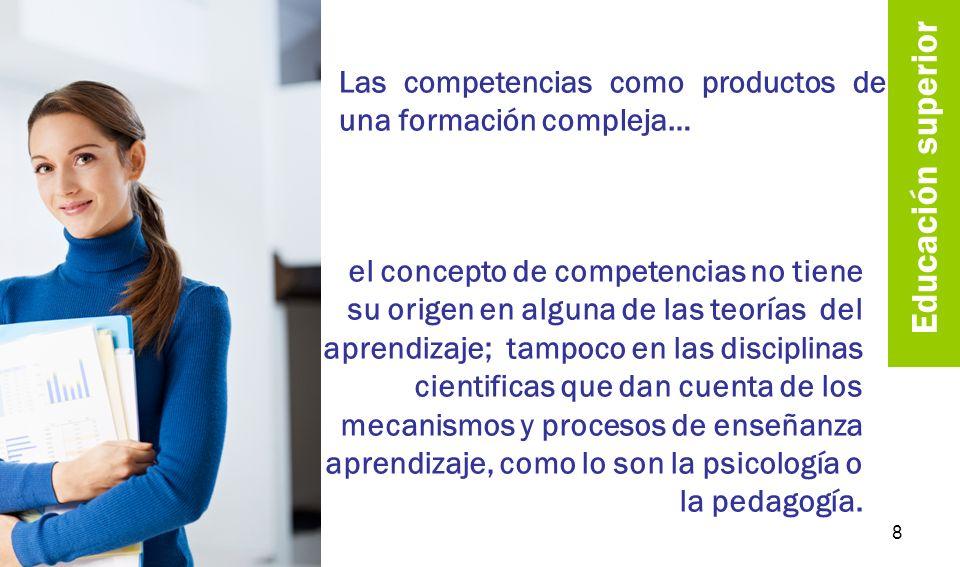 Las competencias como productos de una formación compleja…