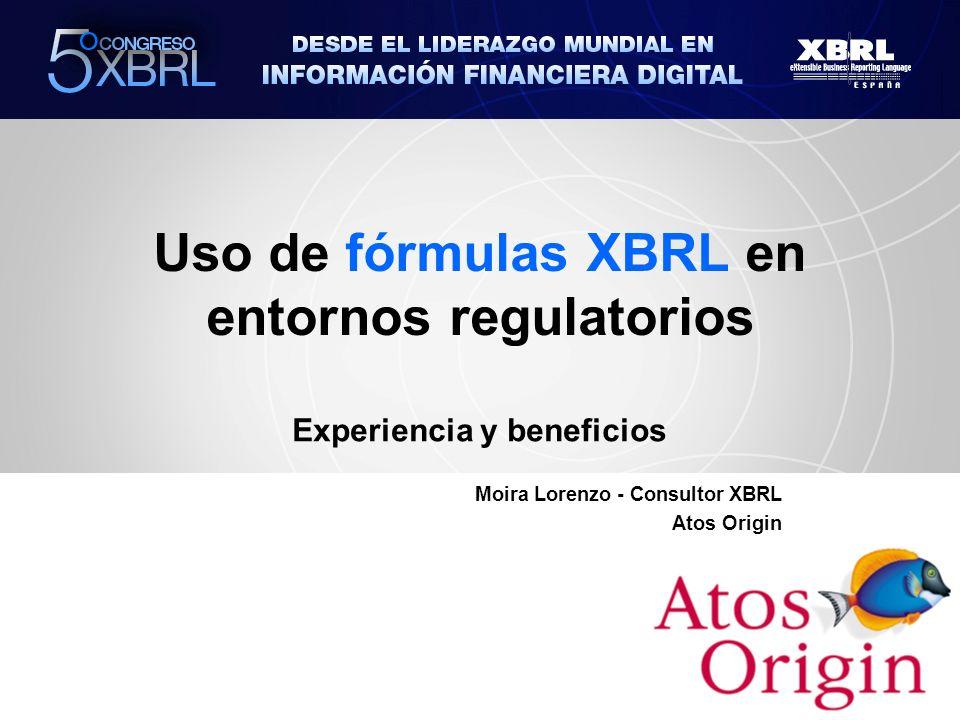 Uso de fórmulas XBRL en entornos regulatorios