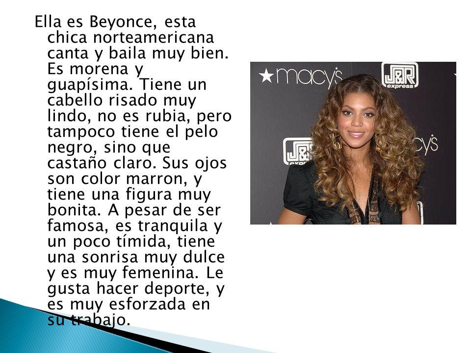 Ella es Beyonce, esta chica norteamericana canta y baila muy bien
