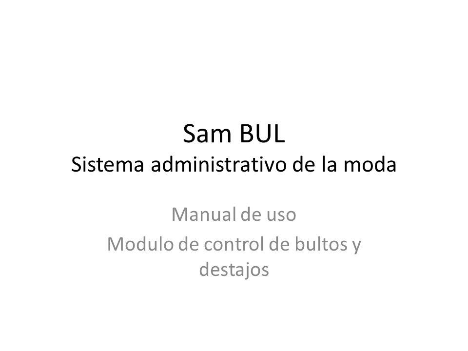 Sam BUL Sistema administrativo de la moda