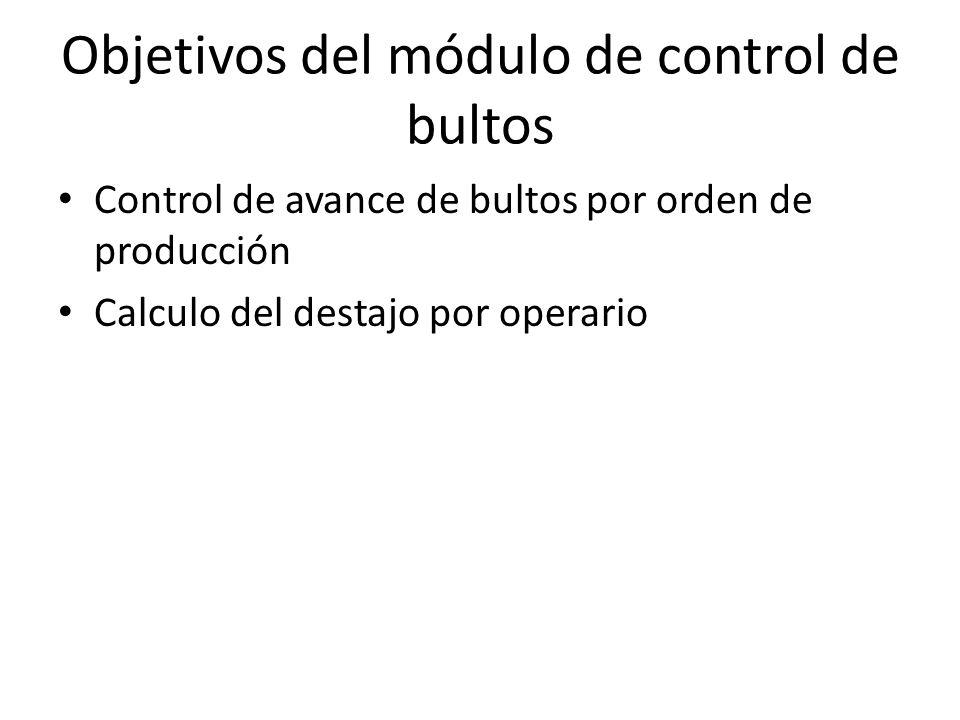 Objetivos del módulo de control de bultos
