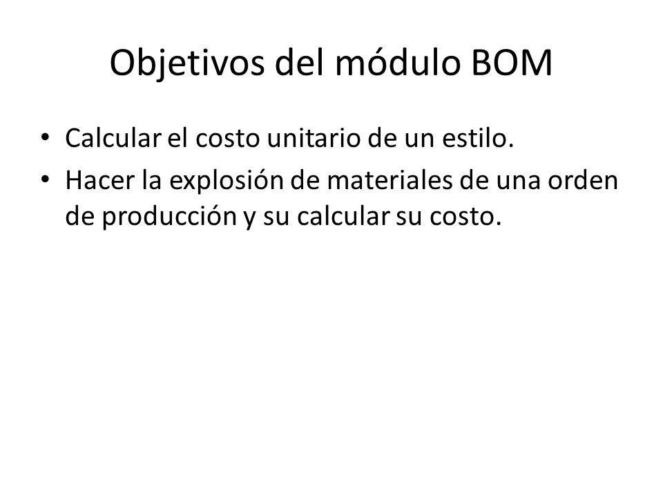 Objetivos del módulo BOM