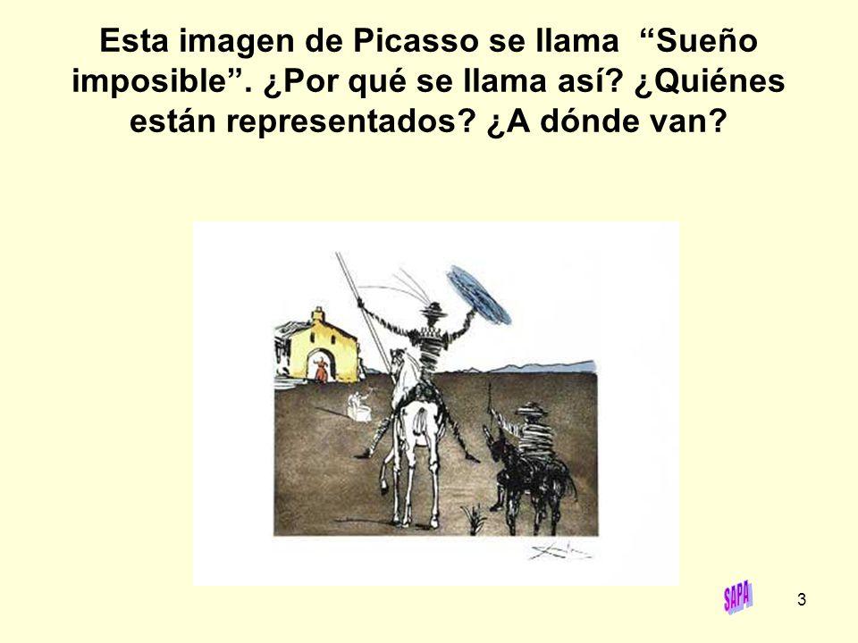 Esta imagen de Picasso se llama Sueño imposible