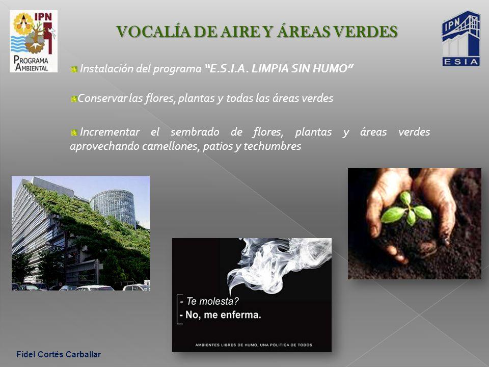 VOCALÍA DE AIRE Y ÁREAS VERDES