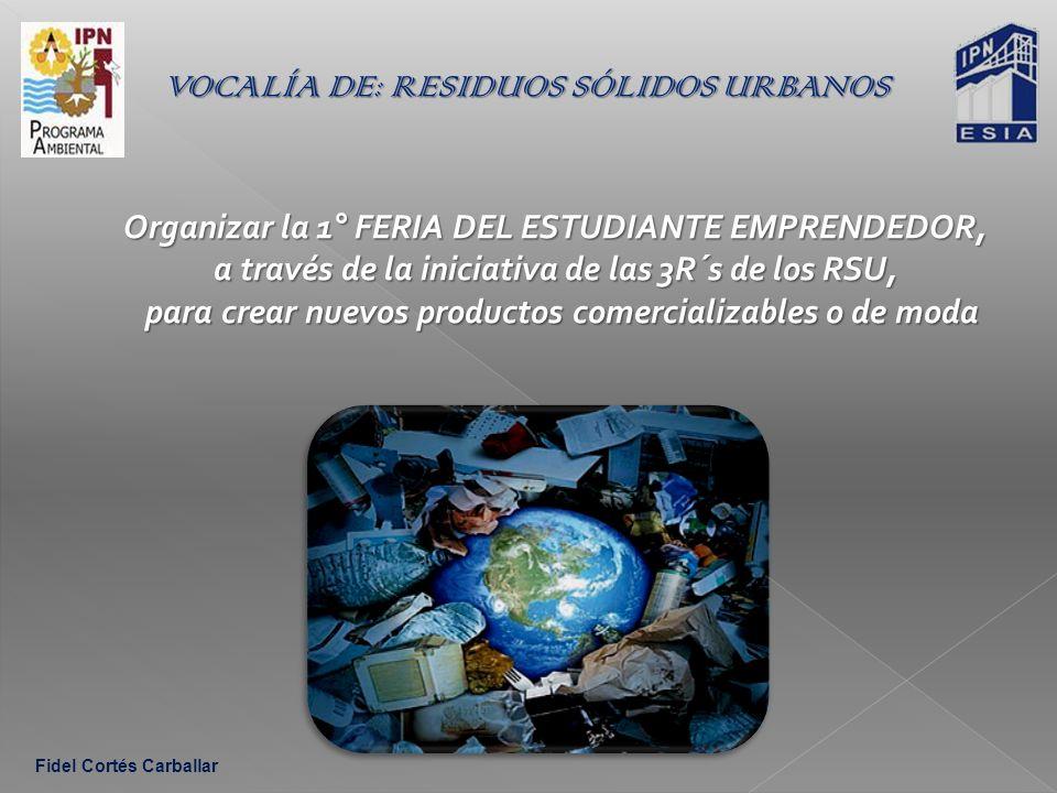 VOCALÍA DE: RESIDUOS SÓLIDOS URBANOS