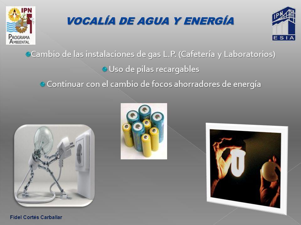 VOCALÍA DE AGUA Y ENERGÍA