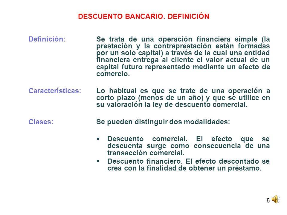 DESCUENTO BANCARIO. DEFINICIÓN