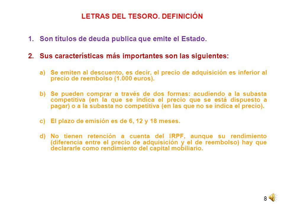 LETRAS DEL TESORO. DEFINICIÓN