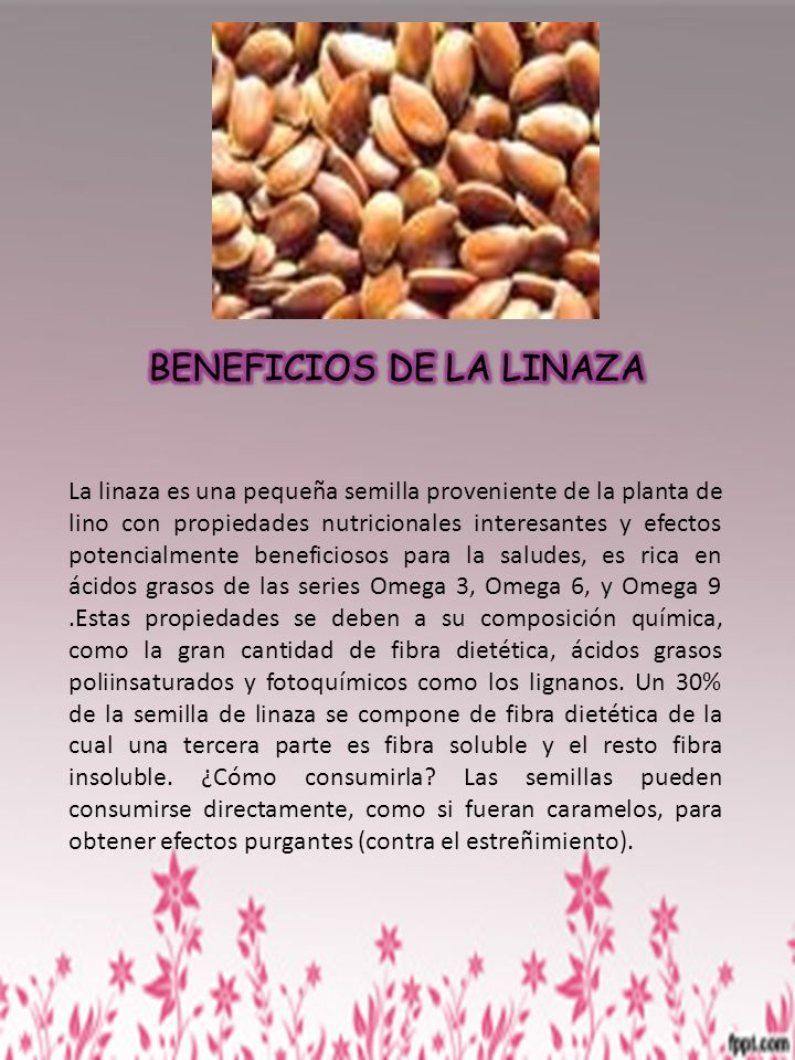 BENEFICIOS DE LA LINAZA
