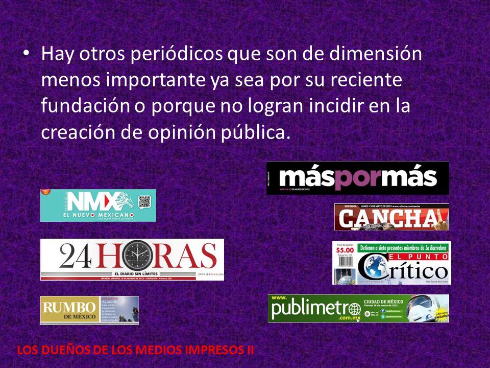 LOS DUEÑOS DE LOS MEDIOS IMPRESOS II