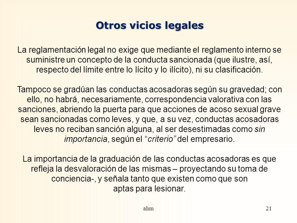 Otros vicios legales