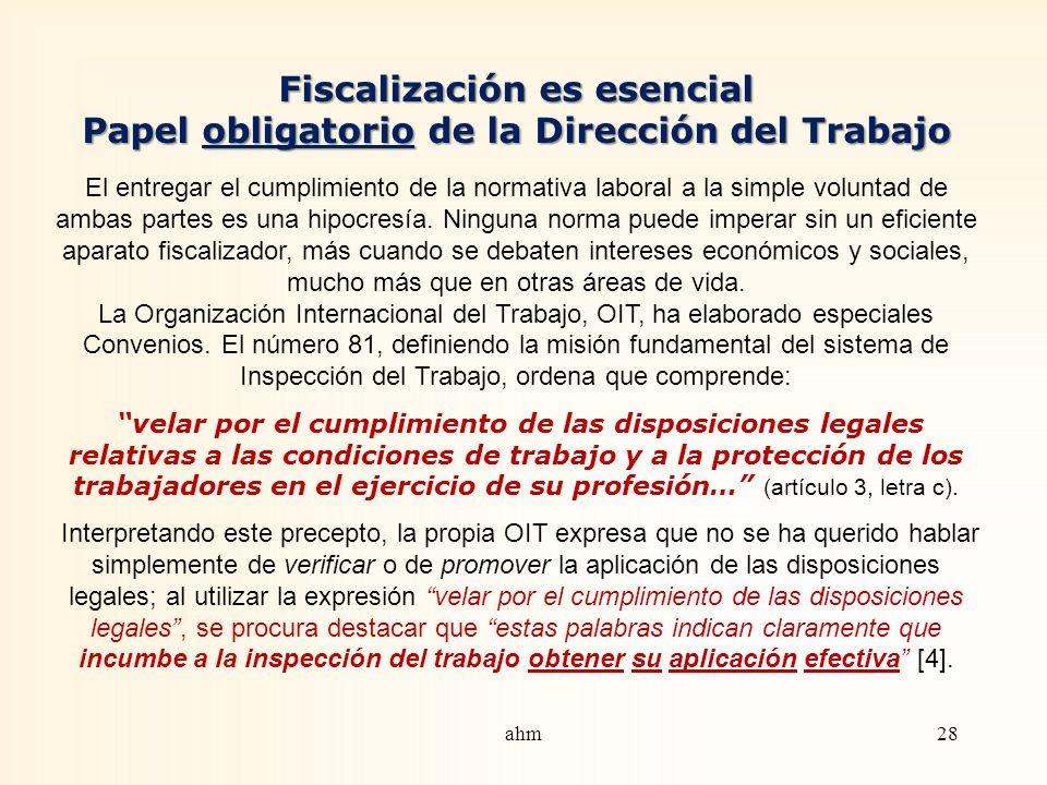 Fiscalización es esencial