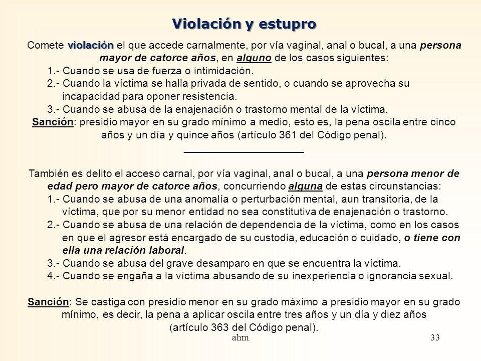 Violación y estupro