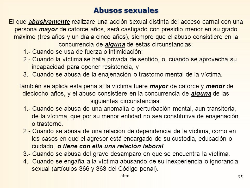 Abusos sexuales