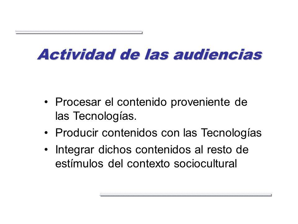 Actividad de las audiencias