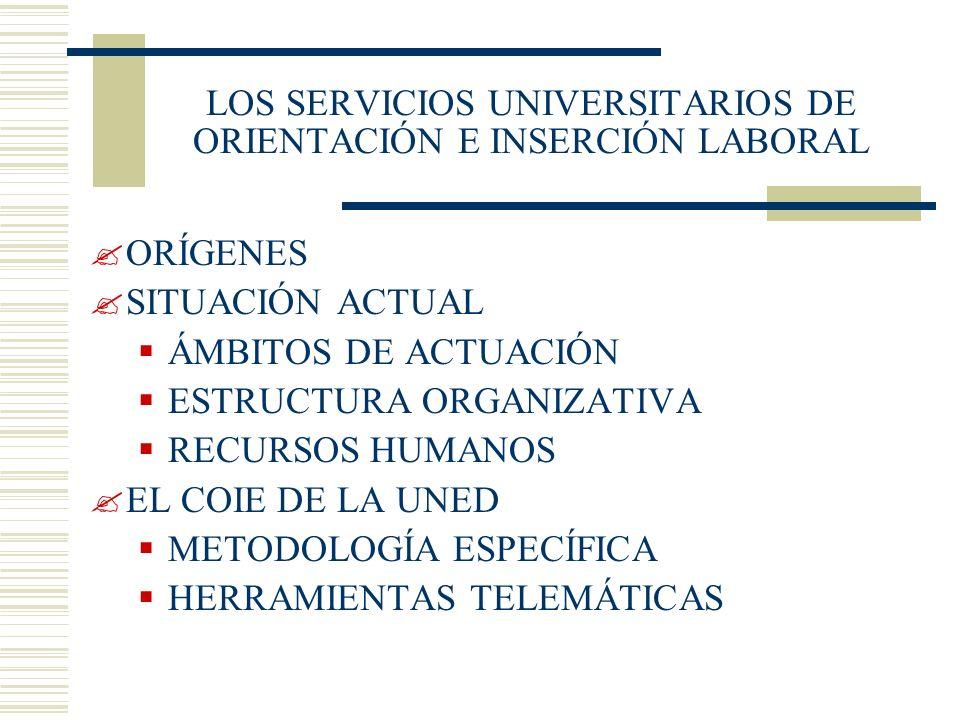 LOS SERVICIOS UNIVERSITARIOS DE ORIENTACIÓN E INSERCIÓN LABORAL