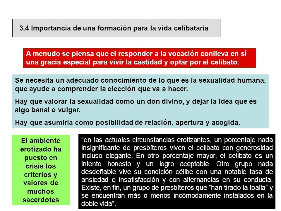 3.4 Importancia de una formación para la vida celibataria