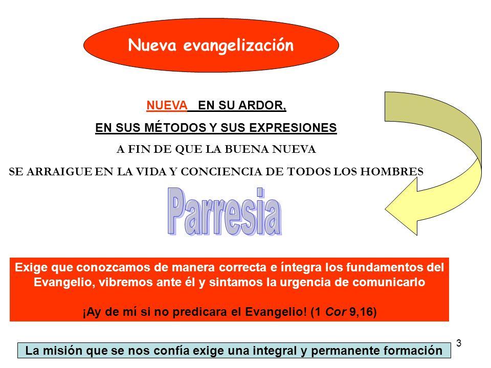 Parresia Nueva evangelización NUEVA EN SU ARDOR,