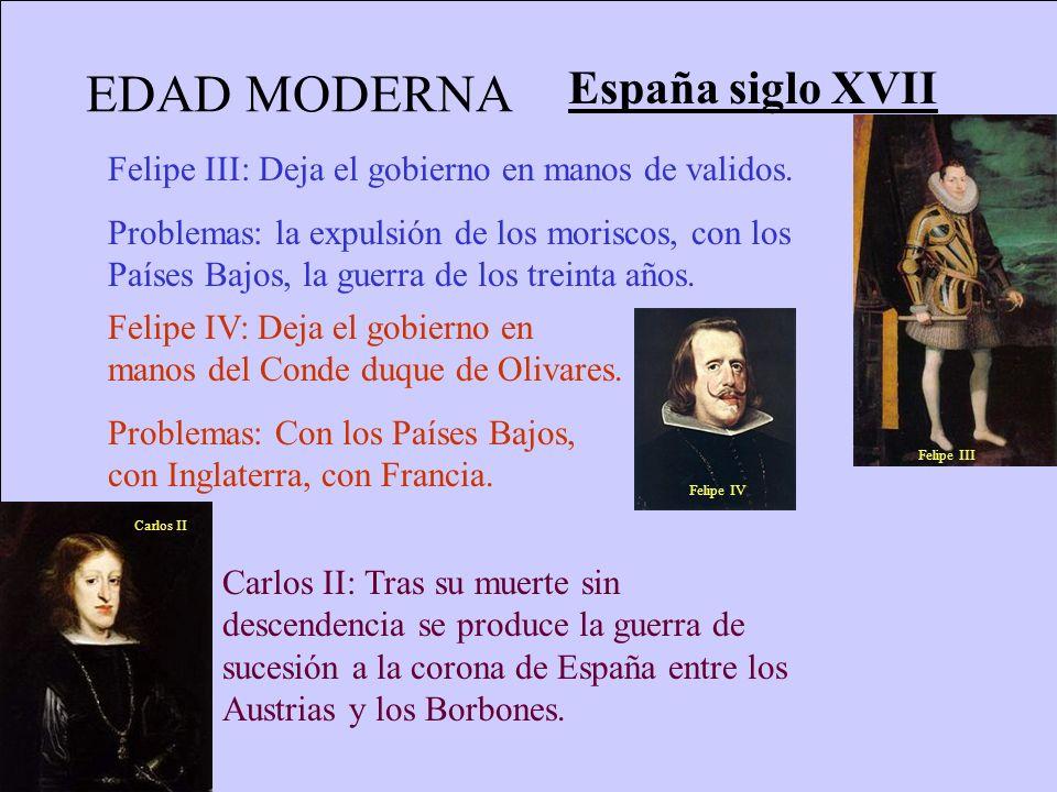 EDAD MODERNA España siglo XVII