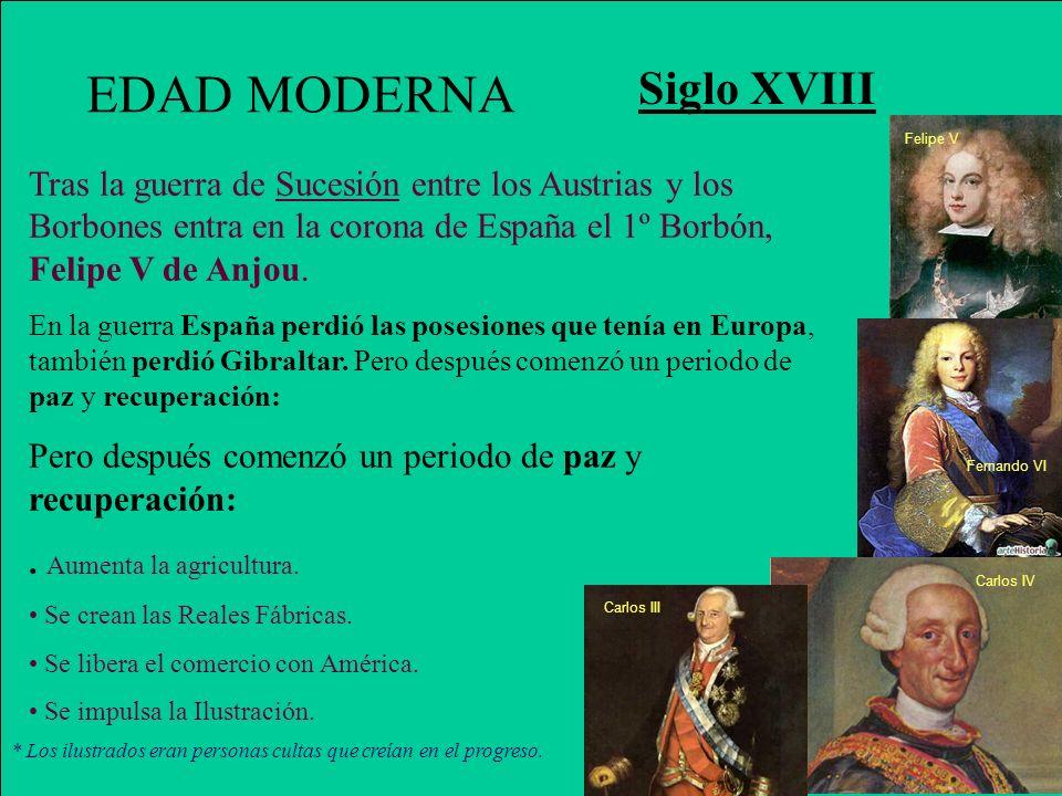 EDAD MODERNA Siglo XVIII