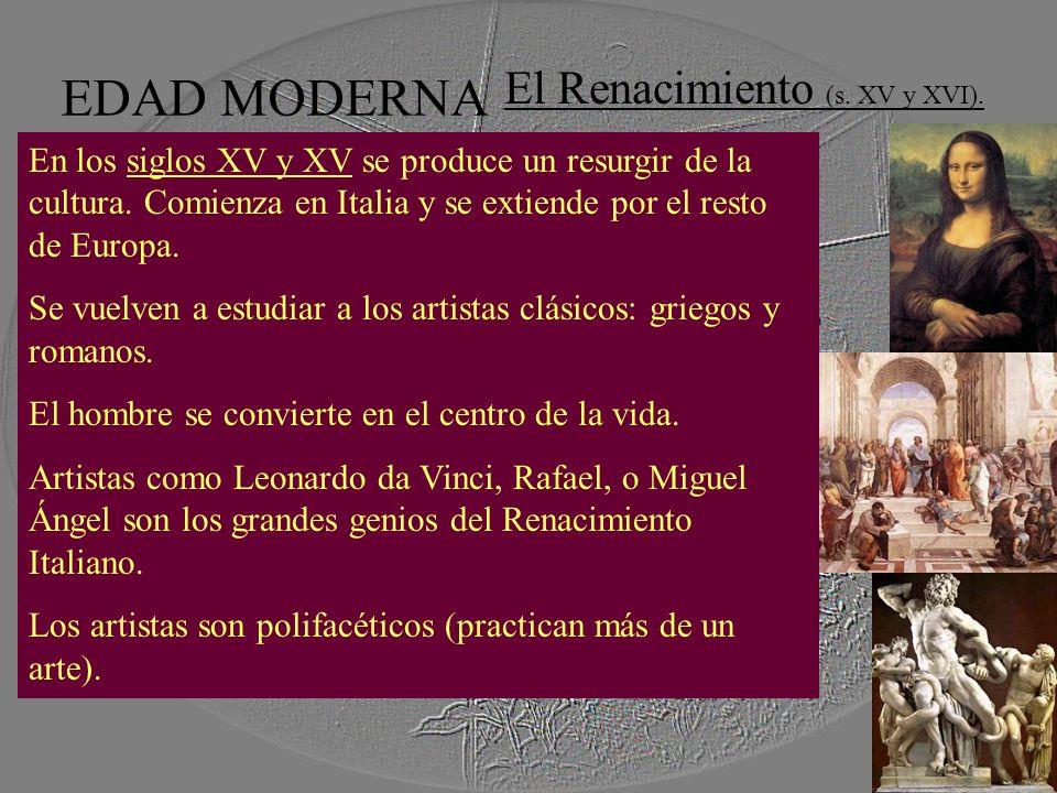 El Renacimiento (s. XV y XVI).