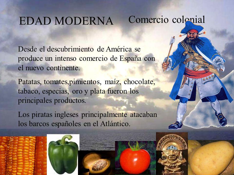 EDAD MODERNA Comercio colonial