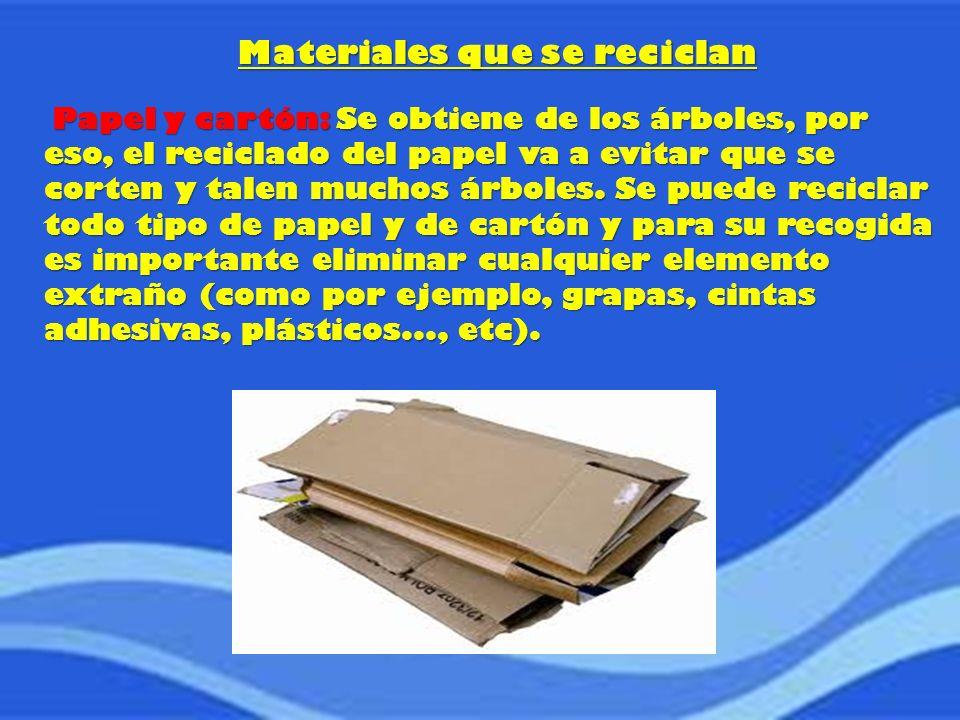 Materiales que se reciclan