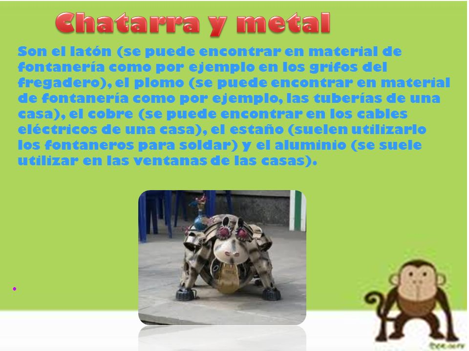 Chatarra y metal