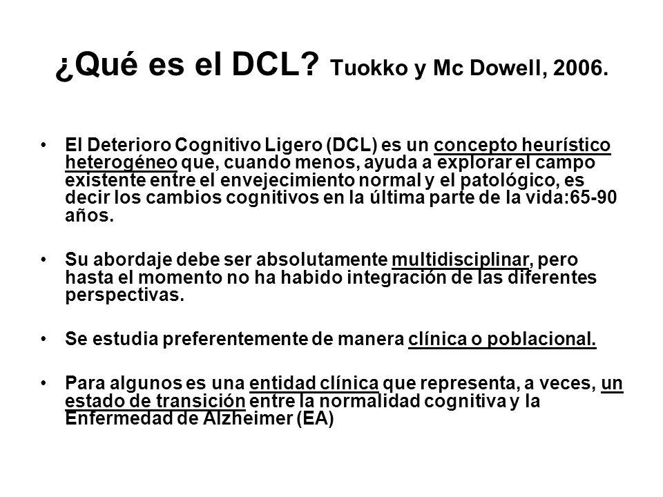 ¿Qué es el DCL Tuokko y Mc Dowell, 2006.